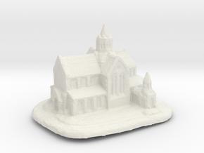 St.Paul's Church in White Natural Versatile Plastic