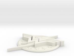"WW-FlashLogo- 5"" Version in White Natural Versatile Plastic"