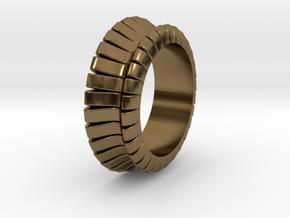 Ø0.683 inch/Ø17.35 mm WAVE RING MODEL B in Polished Bronze