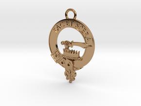 Clan Matheson key fob in Polished Brass
