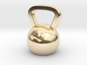 Mini Kettlebell Charm in 14k Gold Plated Brass