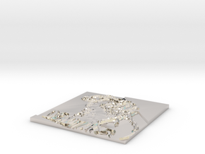 Cover in Rhodium Plated Brass