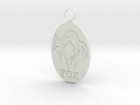 Foxhound Pendant-Curve in White Natural Versatile Plastic
