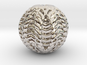 CARVER  Paper Weight in Rhodium Plated Brass