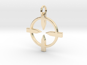 Recon Pendant in 14K Yellow Gold