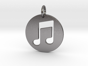 Music Note in Polished Nickel Steel