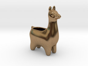 Llama Planters - Small in Natural Brass