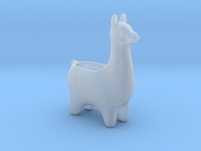 Llama Planters - Small in Smooth Fine Detail Plastic