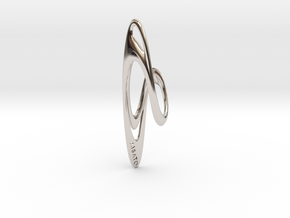 Loop Earring or Pendant top  in Rhodium Plated Brass