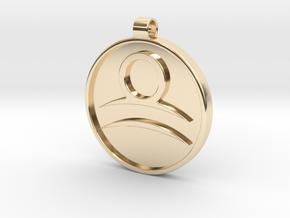 Zodiac KeyChain Medallion-LIBRA in 14K Yellow Gold