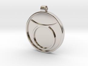 Zodiac KeyChain Medallion-TAURUS in Platinum