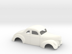 1/24 1940 Ford Coupe Stock in White Processed Versatile Plastic