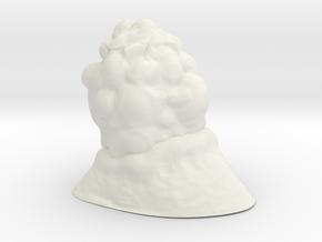3D Spider Eggs Small 20mm  in White Natural Versatile Plastic