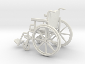 1:24 Wheelchair (Not Full Size) in White Strong & Flexible