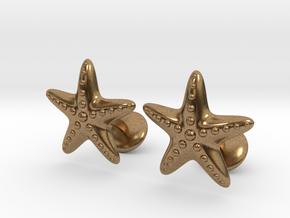 Starfish Cufflinks in Natural Brass