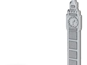 Big Ben, London, England Charm in Black Natural Versatile Plastic