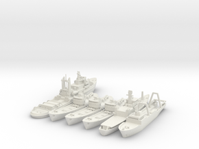 Cod War Set 1 1:700/600 in White Natural Versatile Plastic: 1:700