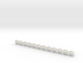 Flag pole bracket 01.  1:64 Scale in White Natural Versatile Plastic