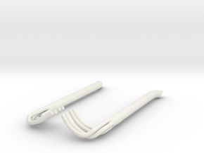 1/8 Racing Side Pipes in White Natural Versatile Plastic