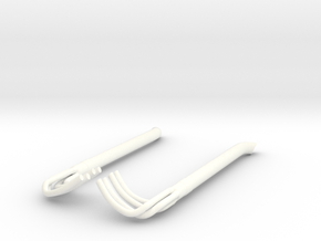 1/18 Racing Side Pipes in White Processed Versatile Plastic