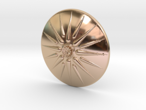 Sun of Vergina Belt Buckle, Detailed Center in 14k Rose Gold