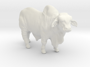 Brahma Bull in White Natural Versatile Plastic
