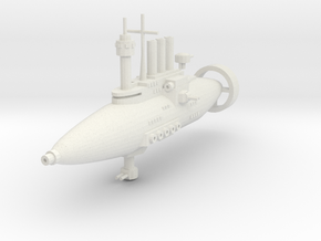 Jarv-densor Class Torpedo Cruiser in White Natural Versatile Plastic