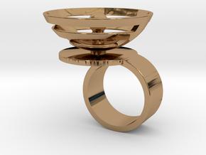 Orbit: US SIZE 5 in Polished Brass