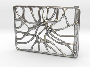 Belt Buckle 'Connect' in Natural Silver