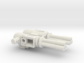 "Combat Heli Gatling Guns ""G1"" in White Natural Versatile Plastic"