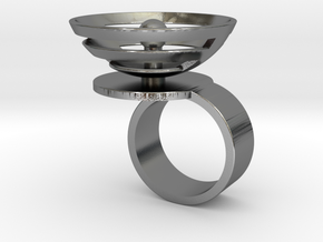 Orbit: US SIZE 6 in Polished Silver