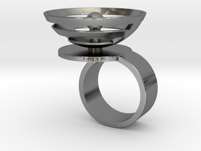 Orbit: US SIZE 6.5 in Polished Silver