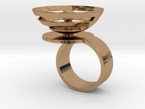 Orbit: US SIZE 7.5 in Polished Brass