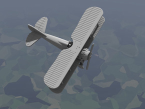 SPAD 13 (1917 Model) in White Natural Versatile Plastic: 1:144
