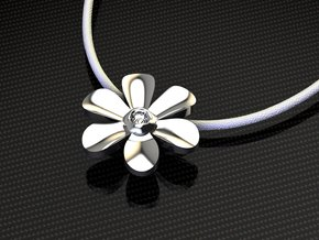 Hope Flower in Fine Detail Polished Silver