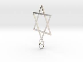 Star Of David in Platinum