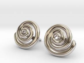 Spiral Earrings  in Platinum