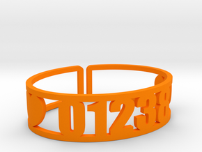 Lenox Zip Cuff in Orange Processed Versatile Plastic