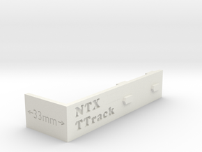Ttrack Gauge in White Natural Versatile Plastic