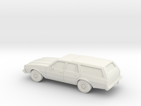 1/87 1977-78 Chevrolet Caprice Station Wagon in White Natural Versatile Plastic