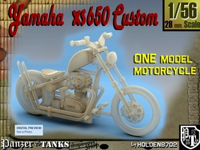 1-56 Yamaha XS650 Custom in Frosted Ultra Detail