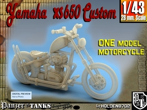 1-43 Color Yamaha XS650 Custom in Black Strong & Flexible