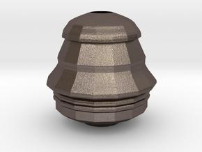 Face Vase in Polished Bronzed Silver Steel