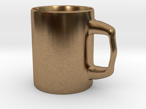 Designers Mug for Coffee or else in Natural Brass