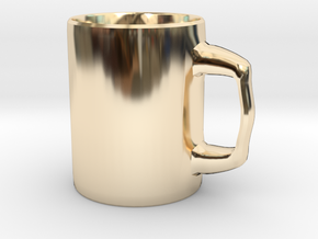 Designers Mug for Coffee or else in 14k Gold Plated Brass