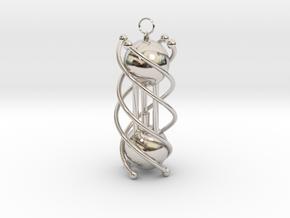 Design Fantasy Lantern in Rhodium Plated Brass