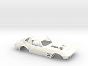 1/32 Corvette Grand Sport 1964 in White Processed Versatile Plastic