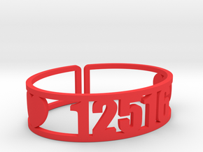Pontiac Zip Cuff in Red Processed Versatile Plastic