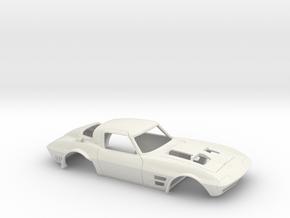 1/12 Corvette Grand Sport 1964 in White Natural Versatile Plastic