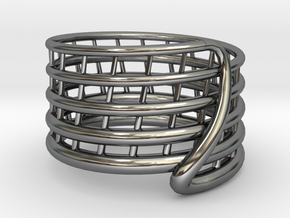 Ripple Ring Size12 in Premium Silver